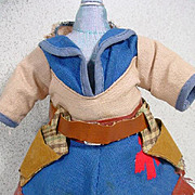 "Cowgirl Outfit for 10"" Doll, 1950's"