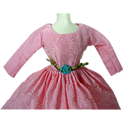 Original Bild Lilli Pink Taffeta Cocktail Dress, 1950's