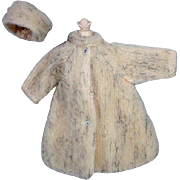 Original Bild Lilli Faux Fur Coat and Matching Hat, 1950's