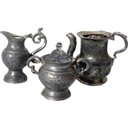 Miniature Coffee/Tea Set, Pot Metal, 1920's