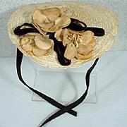 Vintage Madame Alexander Elise Size Summer Hat, 1950's