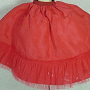 Vintage Madame Alexander Red Cissy Petticoat, 1950s