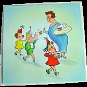 Vintage 1944 Hallmark Little Lulu Birthday Card!