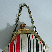 Vintage Doll Satin Stripe Purse