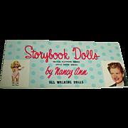 Vintage Nancy Ann Storybook Dolls Catalog, Muffie, 1950's