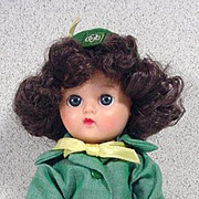 "Cosmopolitan Ginger Girl Scout 7 1/2"" Doll, 1958, Terri Lee Outfit"