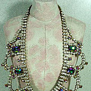 Magnificent Vintage Runway Rhinestone Necklace, 1960's