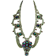 Magnificent Vintage Runway Rhinestone Necklace, 1960's