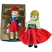 "Madame Alexander Vintage 8"" Hansel and Gretel Dolls, 1970's"