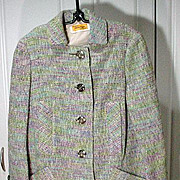 Vintage 1960's Ladies Designer Spring Coat