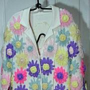 Vintage Hand Appliques 1970's Ladies Coat/Dress, WOW!