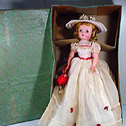 MIB Vintage Madame Alexander Cissy Doll in Summer Gown, 1955