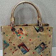 Vintage 1970's Ladies Plastic Purse, Cool!