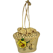 Vintage 1950's Raffia Ladies Summer Purse