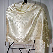 Vintage Louis Vuitton White Silk Scarf
