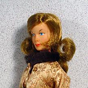 """Vintage Gilbert 12"""" Honey West (Anne Francis) Doll in Evening Gown, 1965"""