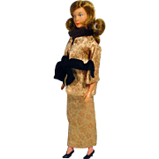 "Vintage Gilbert 12"" Honey West (Anne Francis) Doll in Evening Gown, 1965"