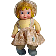 Rushton Rubber and Cloth Doll, 1950's, Charming!