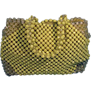 Vintage 1960's Beaded Summer Purse