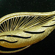 Vintage Monet Faux Gold Brooch, 1960's