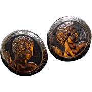 Vintage Men's Cuff Links Hand Made in Greece, 1960's