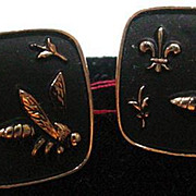 Men's Vintage Bumble Bee Cuff Links, 1960's