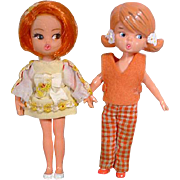 Two Hasbro Dolly Darlings Dolls, 1960's
