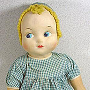 Charming 1940's Cloth Doll