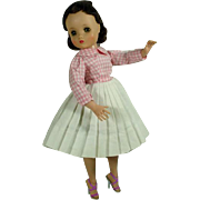Madame Alexander Elise Doll in Tagged Dress, 1950's