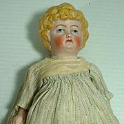 Antique  German Bisque Cabenet Size German Doll
