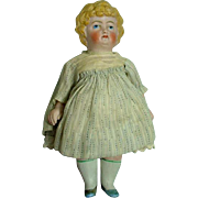 Antique  German Bisque Cabenet Size German Doll