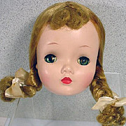 Vintage Madame Alexander Binnie Walker Head, 1950's