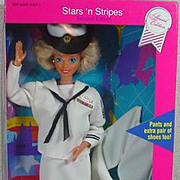 NRFB Stars 'n Stripes Navy Barbie, 1990. Mattel