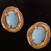 Vintage 1960's Philip Hulitar Clip On Earrings