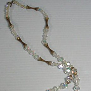 Vintage Crystal Tassle Necklace, 1950's