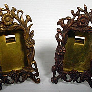 Pair of Antique Miniature Frames for French Fashion Doll
