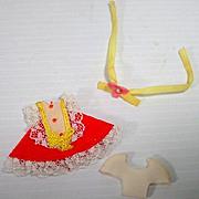 Mattel Skediddle Kiddle Outfit Orange Meringue, Mint 1967