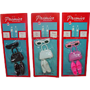Lot of 3 MIP Ideal Tammy Size Shoe, Purse and Sunglass Sets, Premier