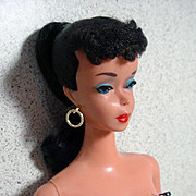 #4 Brunette Ponytail Barbie, 1960 with Accessories