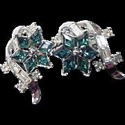 Early 1950's Elegant Trifari Rhinestone Earrings.
