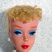 Vintage Mattel Blond Ponytail #4 Barbie Doll, 1960!