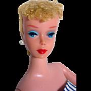 Vintage Mattel Blond Ponytail #4 Barbie Doll, 1960!