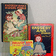 Lot of Vintage Raggedy Ann Children's Books by Johnny Gruelle