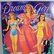 Dream Girl Paper Dolls, Repro of 1950's Book, 1990's