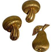 Vintage Trifari Gold Tone Scatter Pins, 1960's