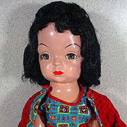 VIntage Mary Jane Hard Plastic Doll, 1955, Terri Lee Look-A-Like