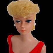 Mattel #6 Light Blond Barbie Ponytail, Peach Lips, 1963