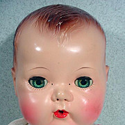 """American Character Tiny Tears Doll, 1950, 16"""""""
