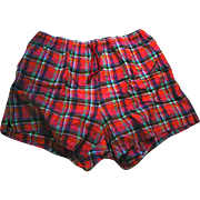 Men's Plaid Bathing Trunks, Barney's NY Label, 1990's