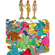 The Lennon Sisters Paper Dolls, Cut, 1950's - Red Tag Sale Item